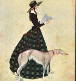 Josefina Santonja, Blanco y Negro, La dama del galgo 1924